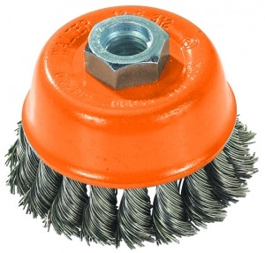 """Walter13-F 304 Knot twisted 3/"""" diameter 5//8-11 steel Cup Brush NEW"""