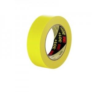 3M 64751 Performance Yellow Masking Tape 301+, 24mm x 55m 6 3mil, 36