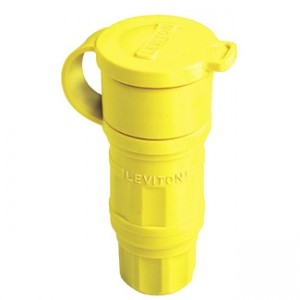 Leviton 29W76 Industrial Grade Wetguard Connector 30 Amp, 480 Volt 3