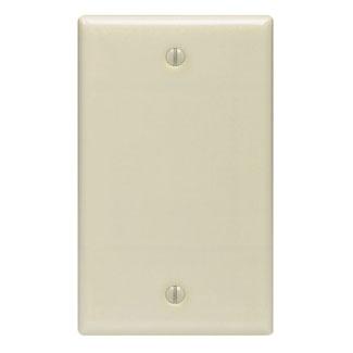 Leviton 86014 Blank Wallplate Standard Size Gang 1 Ivory Lev