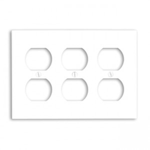 Leviton 88030 Receptacle Wallplate, Standard Size, Gang 3