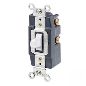 Leviton 1256 W Toggle Switch 15 Amp 120 277 Volt White
