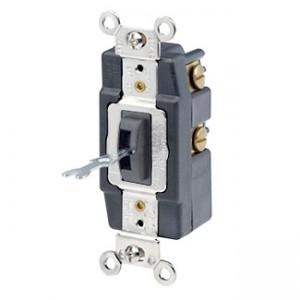 Leviton 1257 L Locking Toggle Switch 20 Amp 120 277 Volt