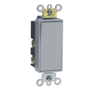 Double-Throw Ctr-OFF Momentary Contact Single-Pole AC Quiet Switch, 15