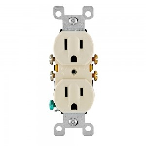 All Screws Backed Out Grounding Residential Grade Duplex Receptacle 125 Volt Single Unit Leviton 5320-ECP 15 Amp Black