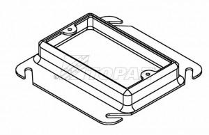 Topaz C4453 Device Ring 4, Galvanized Steel, 4