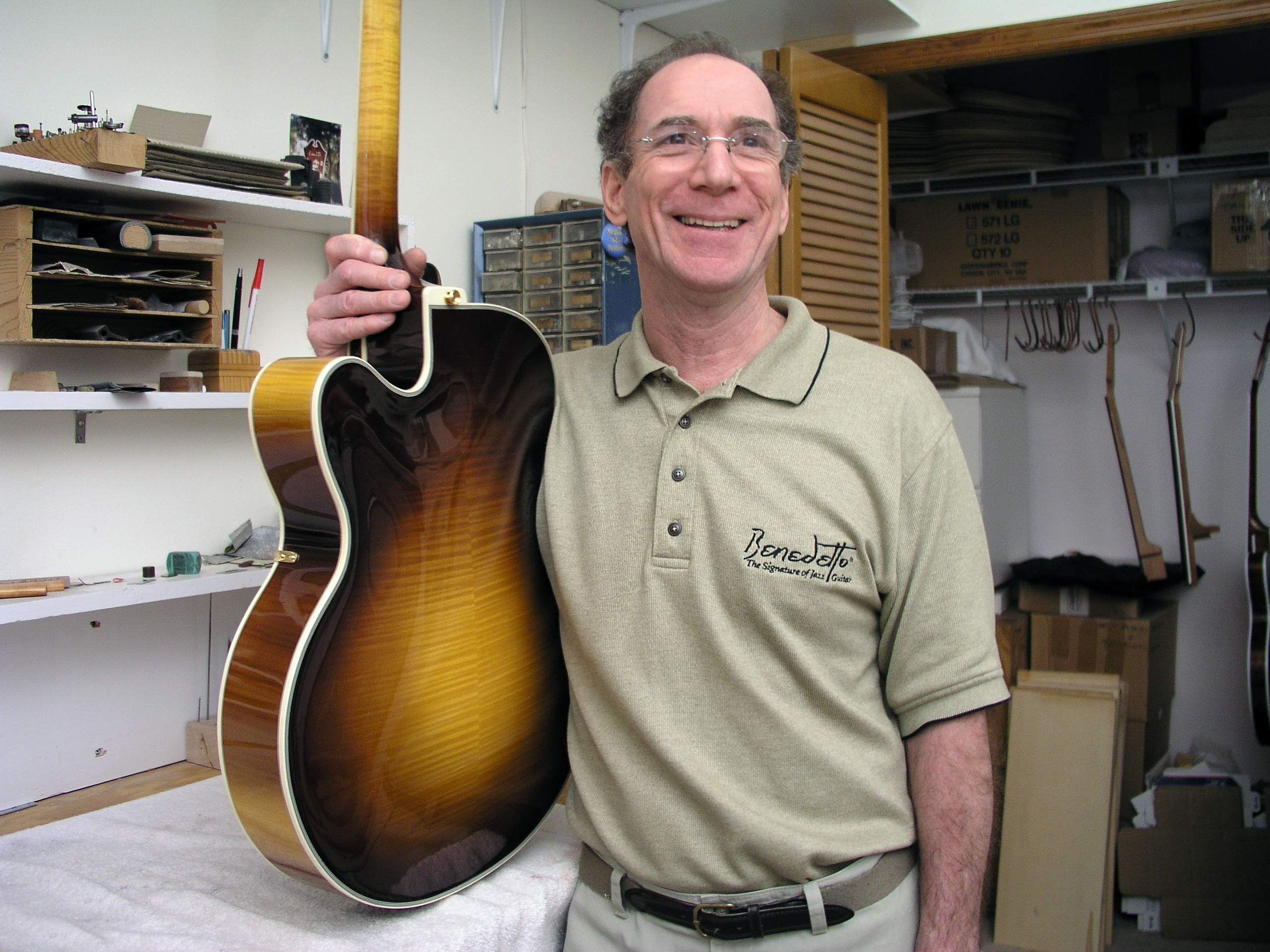 Bob Benedetto founded his archtop guitar company 50 years ago.