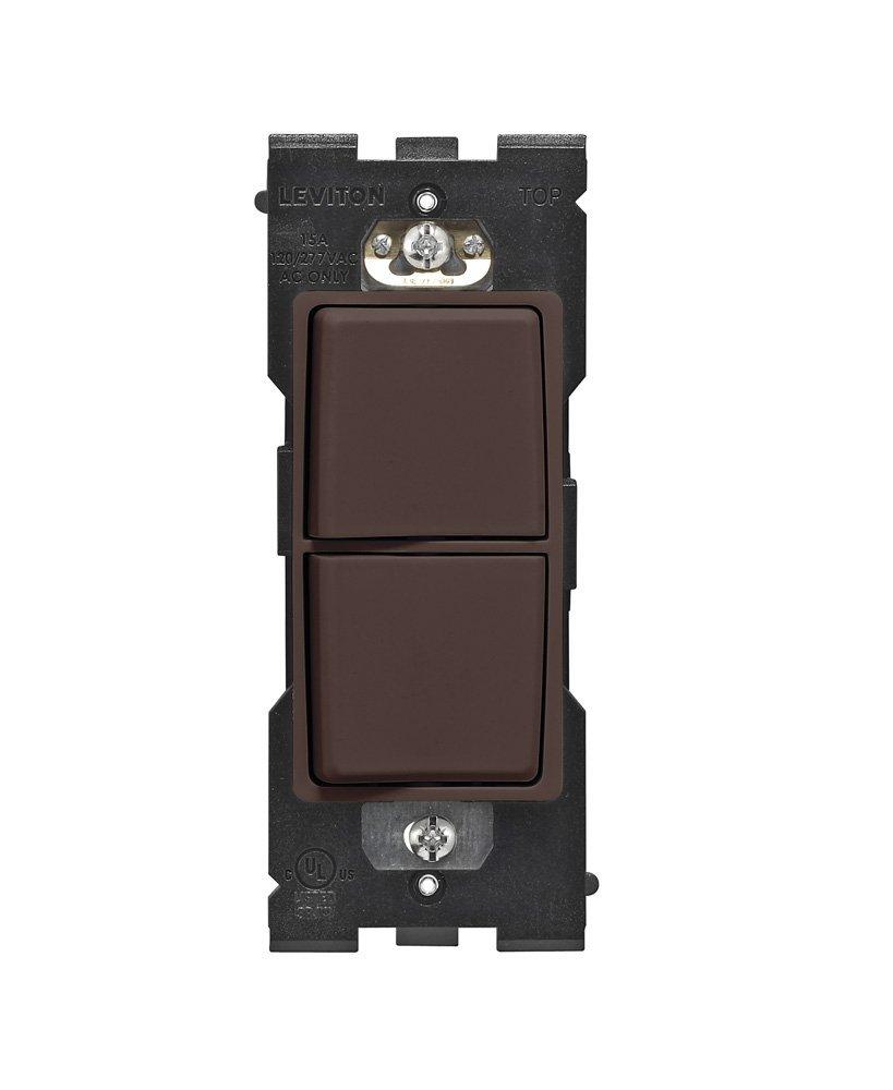 EMI Supply, Inc : Leviton RE634-WB Renu Combination Switch, 15 Amp, 120/277 Volt, Walnut Bark ...
